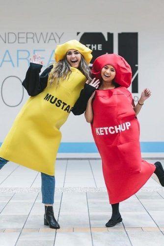Mustard And Ketchup Halloween Costumes #mustard #ketchup