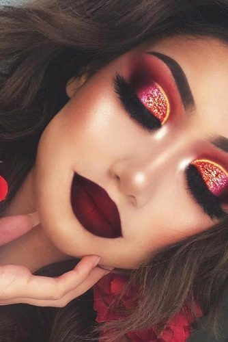 Burgundy Lipstick Matte Makeup Ideas to Try This Season picture 4