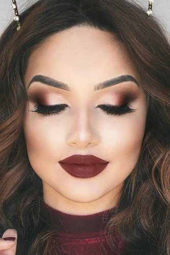 Burgundy Lipstick Matte Makeup Ideas to Try This Season picture 2