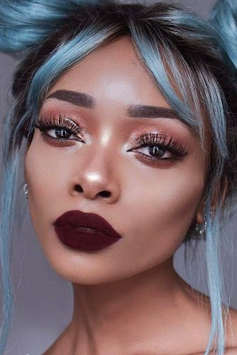 Burgundy Lipstick Matte Makeup Ideas to Try This Season picture 3