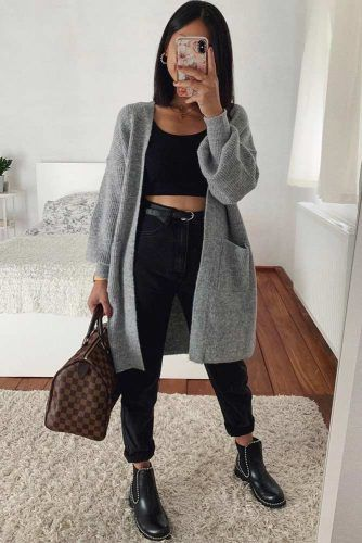 High Waisted Jeans With Comfy Cardigan Outfit #cardigan #jeans