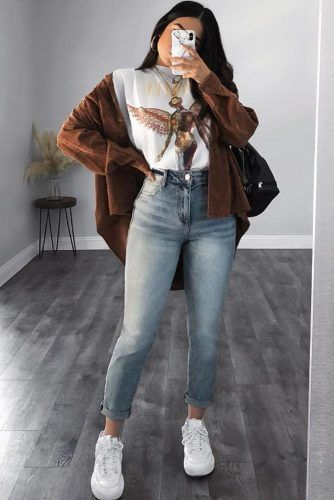 Casual Fall Outfit With Jeans And Cardigan #tshirt #cardigan