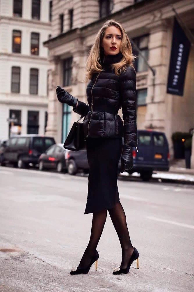 Classy Fall Look With A Pencil Skirt #elegantfalllook #falloutfit