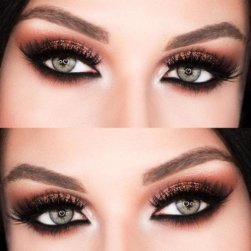Amazing Smokey Eye Look for Grey Eyes