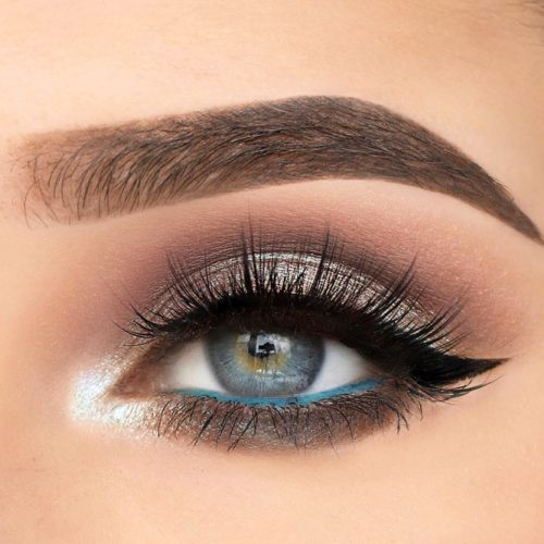 Simple Makeup Idea for Grey Eyes