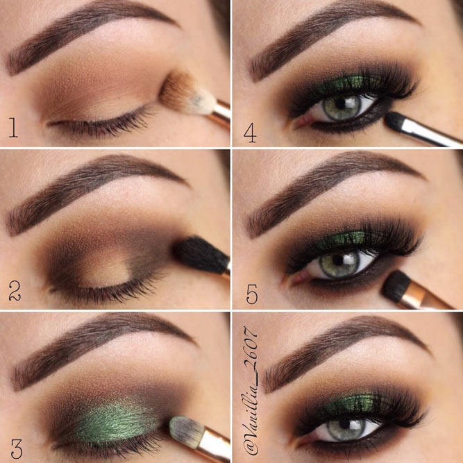 How To Apply Eyeshadow For Smokey Eyes Makeup #makeuptutorial #smokeyeyes