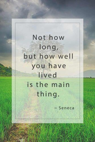 Not how long, but how well you have lived is the main thing. Seneca #inspirationquotes #lifequotes #truthquotes