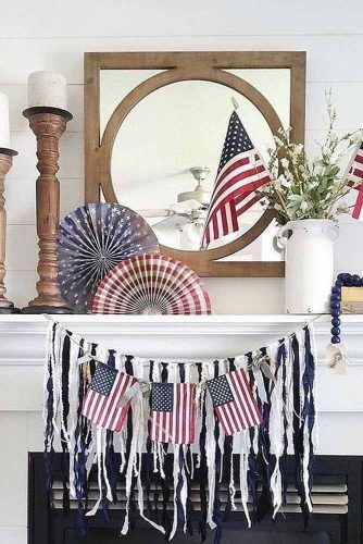 Flag Outdoor Decorations #flagdecor