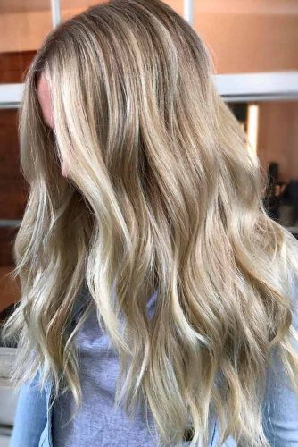 Soft Brown and Blonde Highlights
