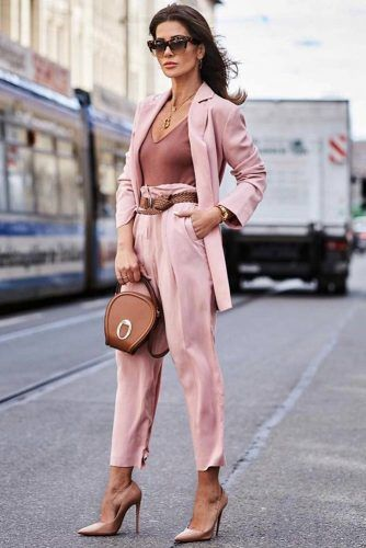 Pink Power Suit Design #highwaistedtrousers