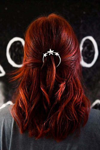 Coppery Red Glam #coloredhair #highlights