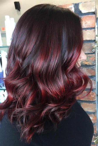 Dark Hair With Red Accents