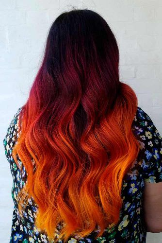 Sunset Red #ombrehair