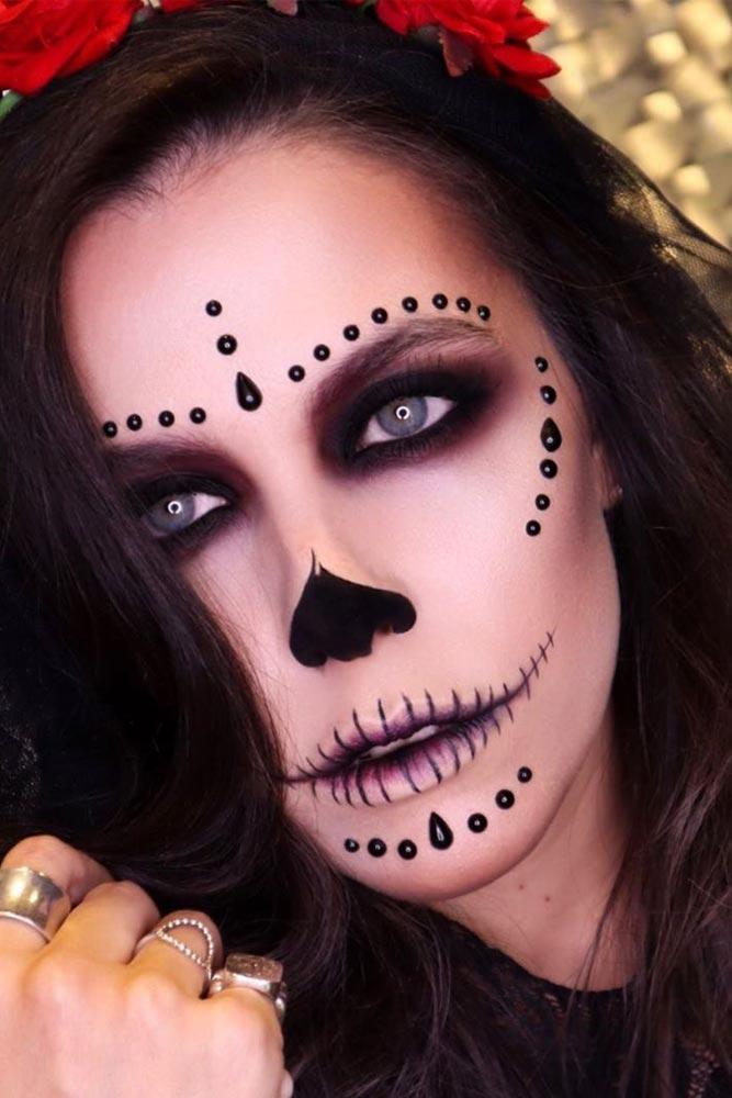 Black Classy Sugar Skull #blackpearls