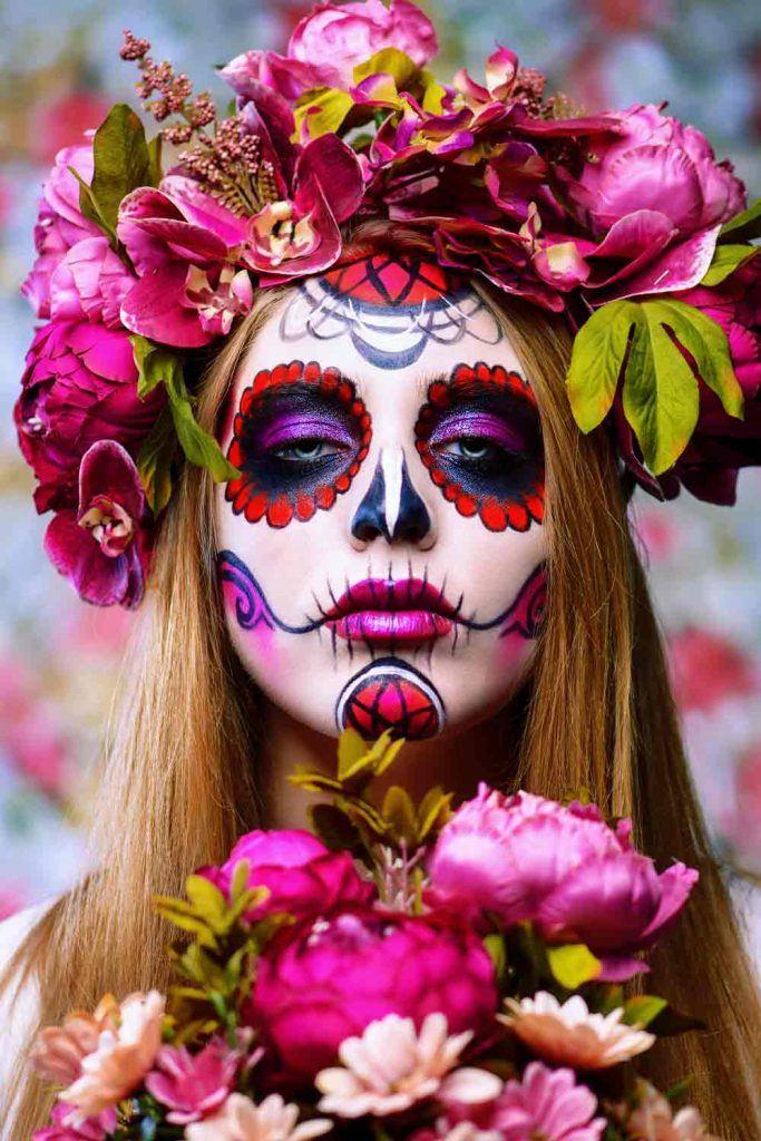 Classy Skull Makeup Idea