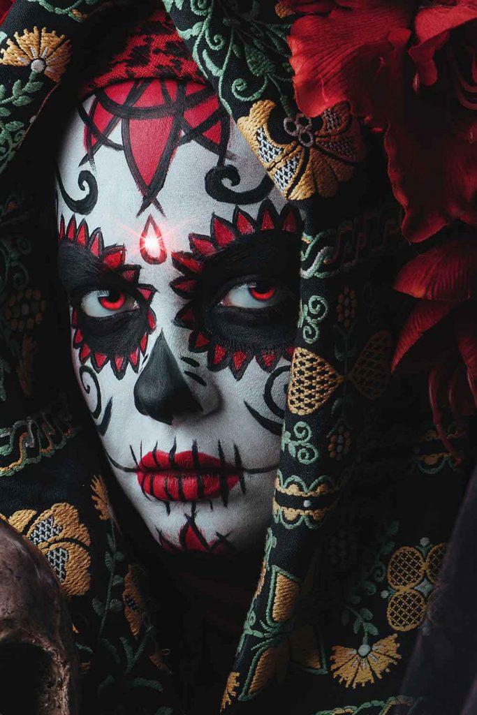 Beautiful Skull Makeup Idea