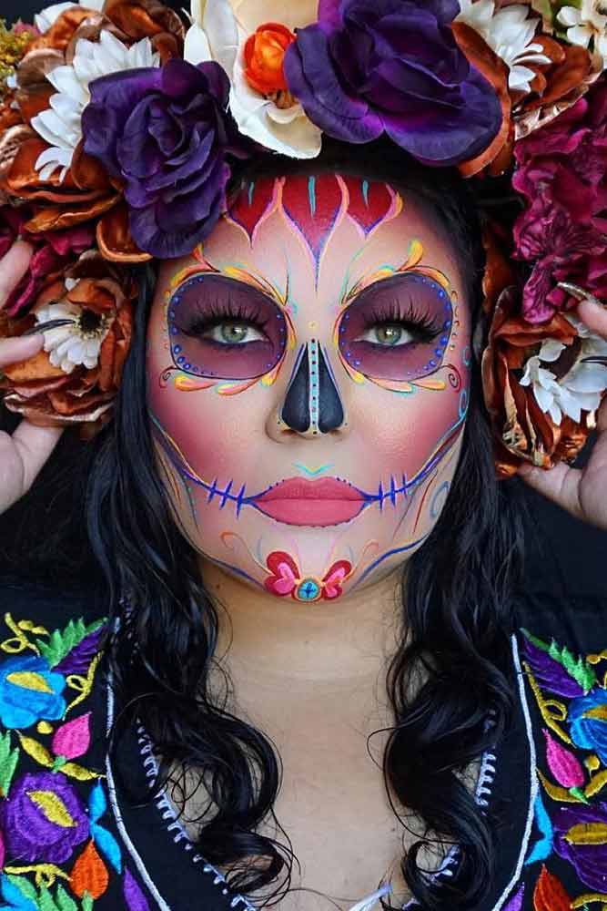 Colorful Sugar Skull Halloween Looks picture 2