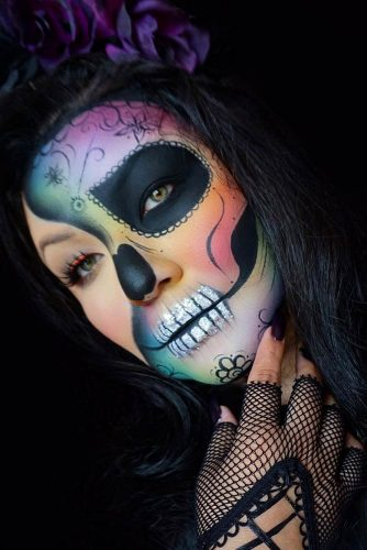 Colorful Sugar Skull Halloween Looks picture 3