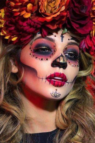 New Pretty Sugar Skull Makeup Ideas picture 1