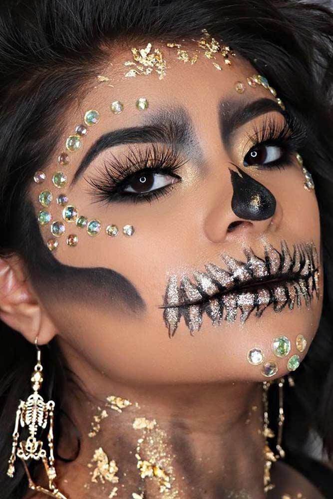 Glitter Sugar Skull #glitterskull