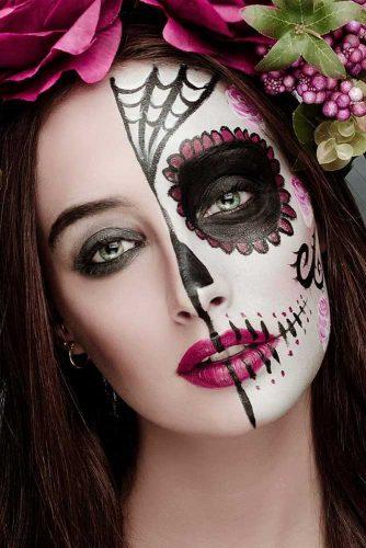 how to do sugar skull makeup