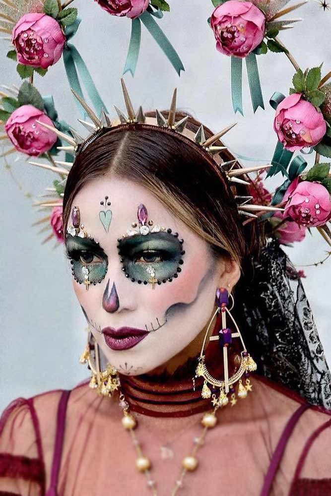Jewelry Sugar Skull Halloween Makeup #jewelrysugarsugar