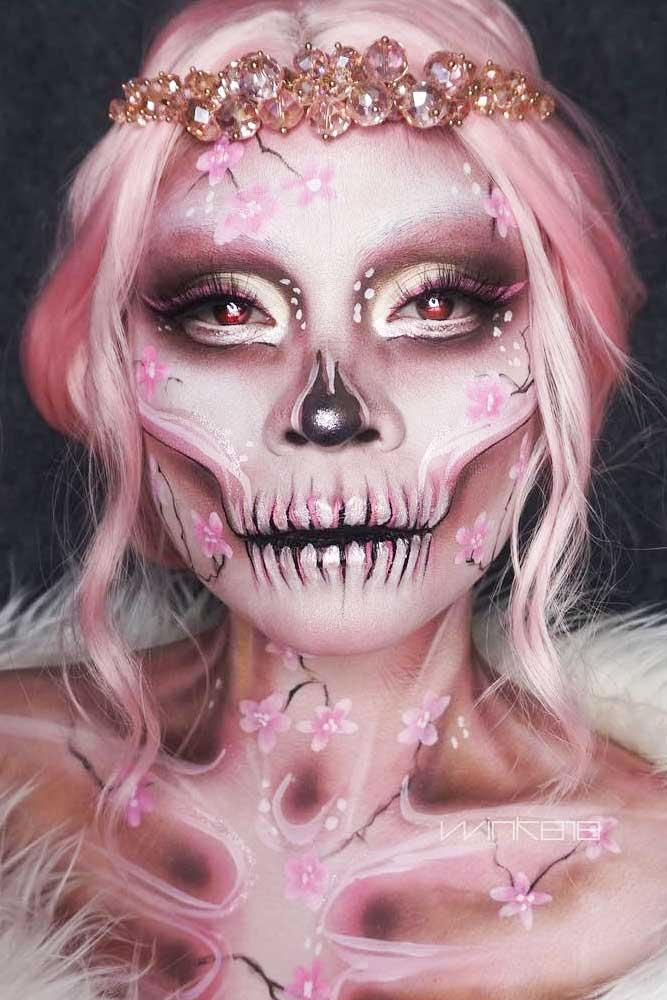 Sakura Sugar Skull Makeup