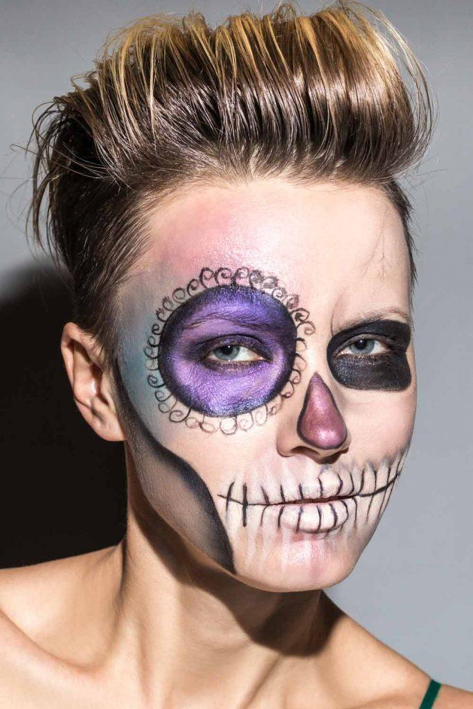 Easy Halloween Skill Makeup