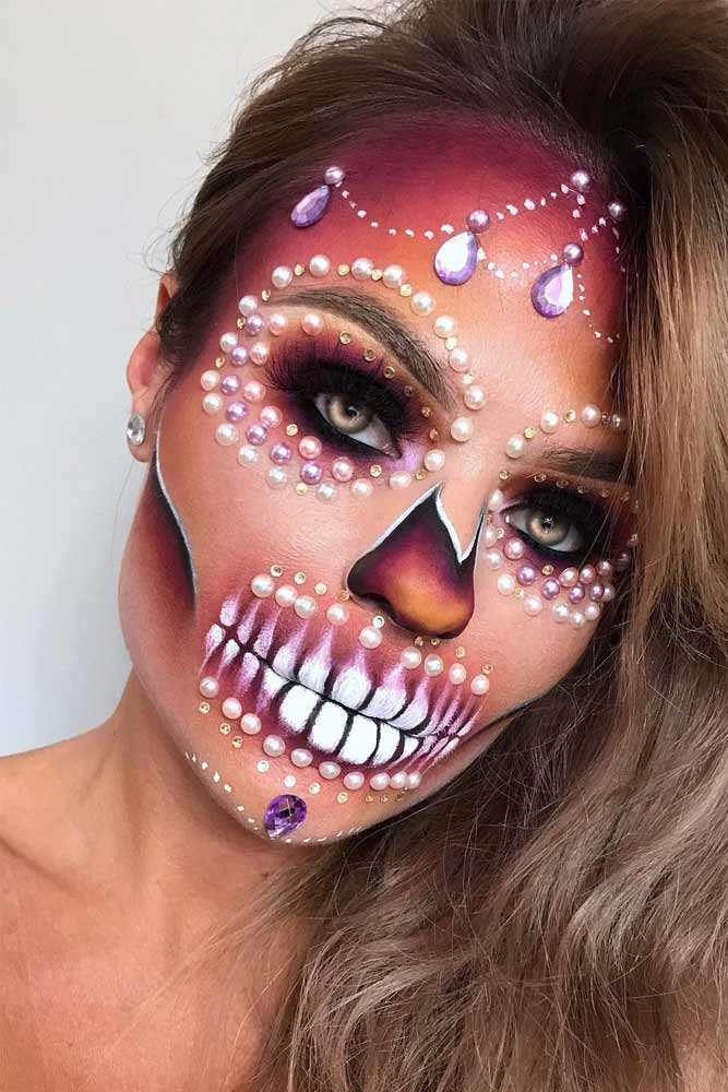 Sparkly Sugar Skull Makeup Idea