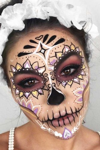 Color Sugar Skull Makeup