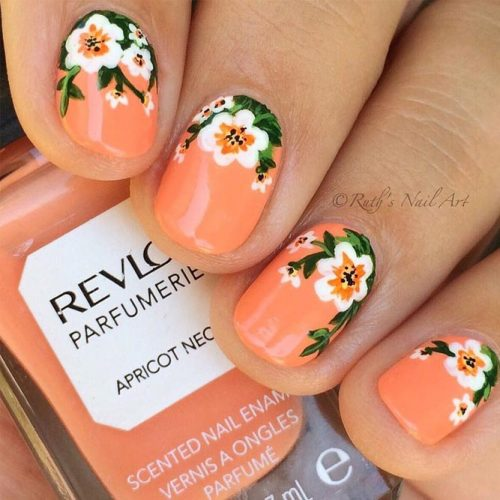 Tropical Summer Nails with a Flower Pattern picture 4
