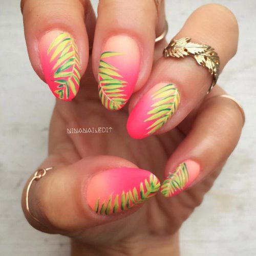 Summer Nail Designs with Palm Leaves picture 1