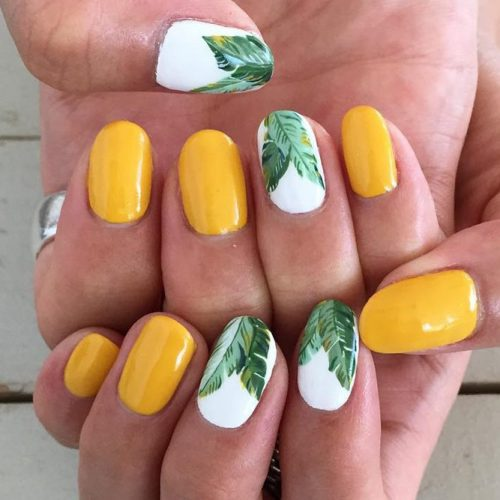 Summer Nail Designs with Palm Leaves picture 2