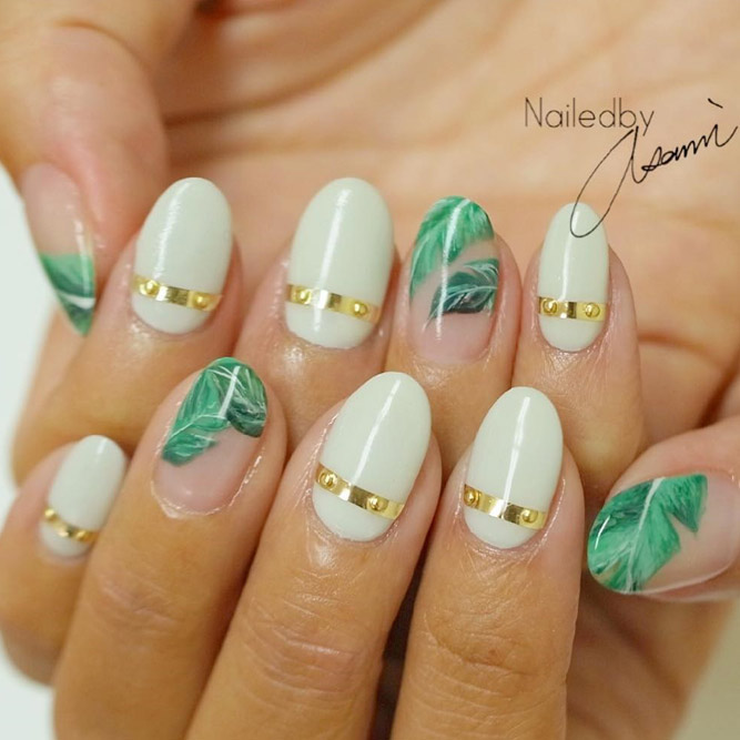 Summer Nail Designs with Palm Leaves picture 3