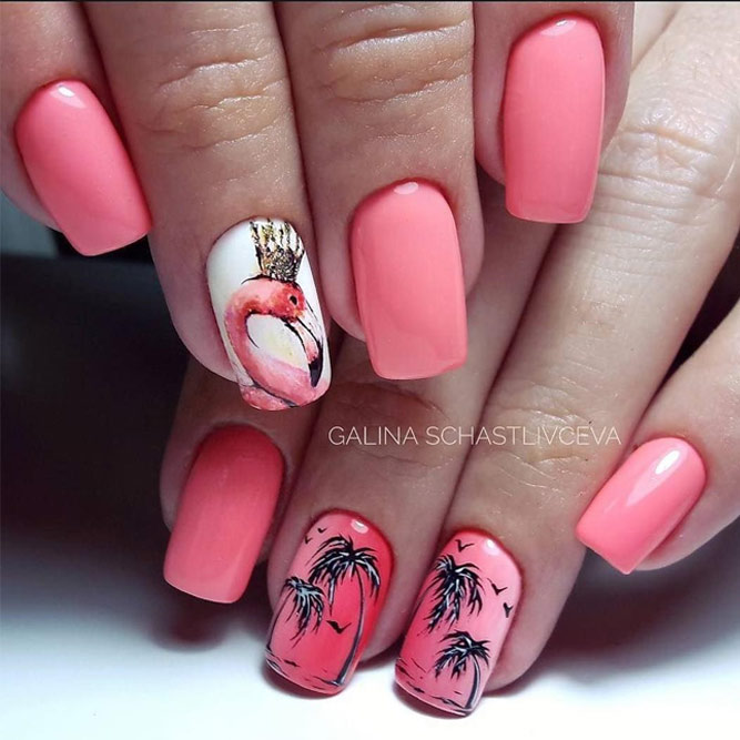 New Fresh Tropical Nail Designs picture 4