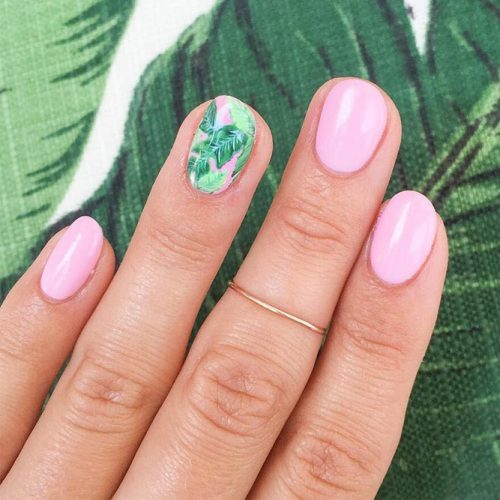 Summer Nail Designs with Palm Leaves picture 5