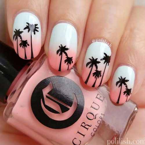 Sunset Tropical Nail Art Ideas picture 5
