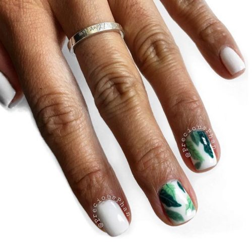 Summer Nail Designs with Palm Leaves picture 6