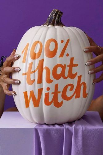 Witch Pumpkin Lettering #letteringdecoration #witchpumpkin