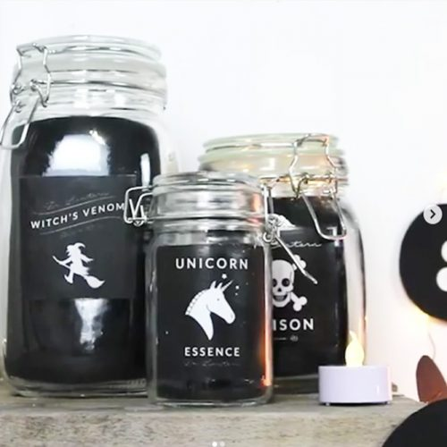 Diy Mason Jars Idea #halloweencrafts #masonjars