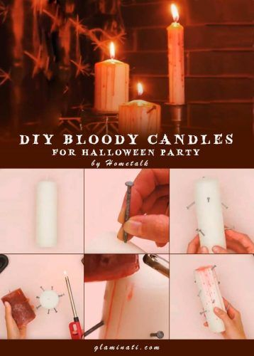 DIY Bloody Candles #diydecor #handmade