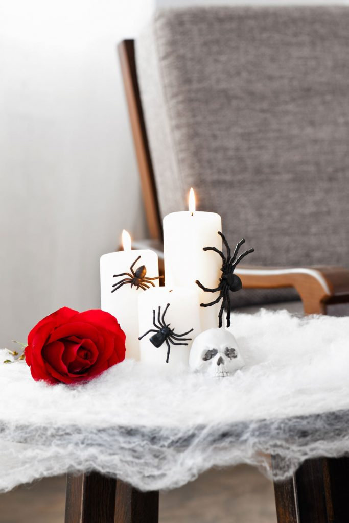 Halloween Decor With Candles