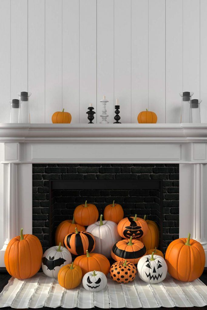 Pupkin Fireplace Decor