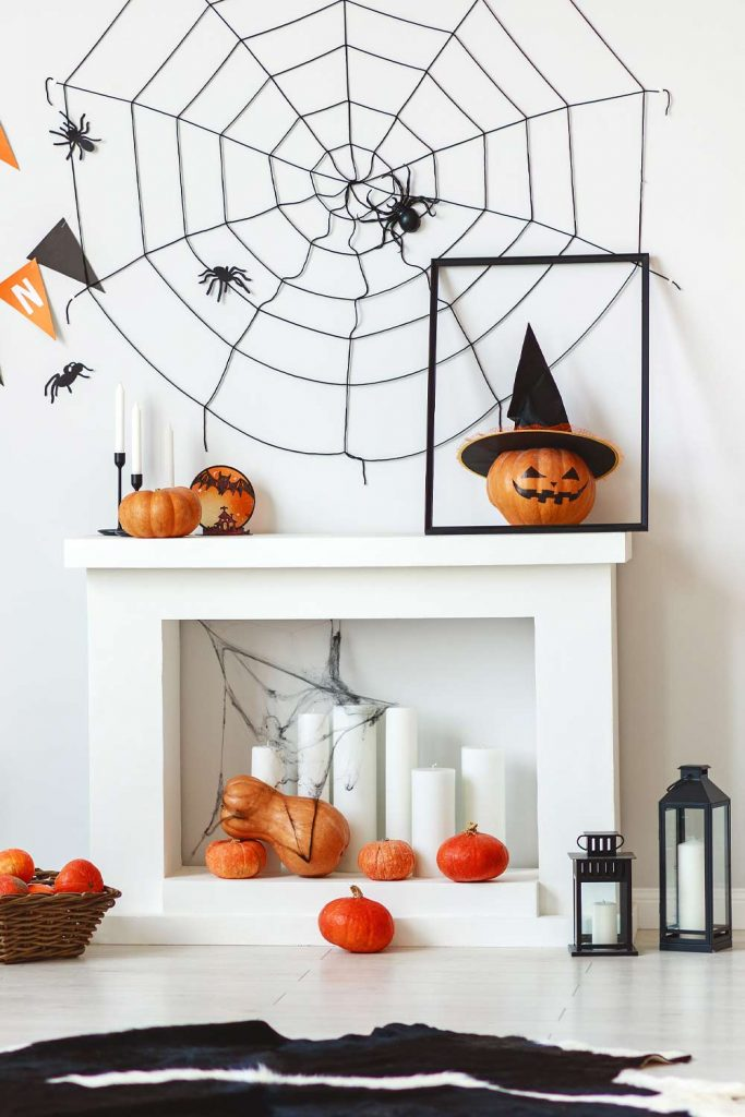Halloween Fireplace Decoration