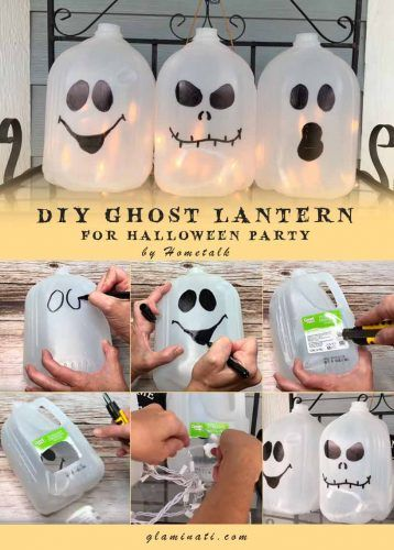 Ghost Lanterns #diydecor #handmade
