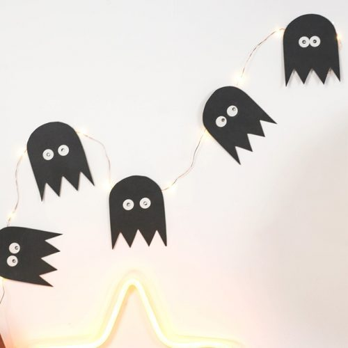 Paper Ghost Decor Ideas #paperghost #walldecor