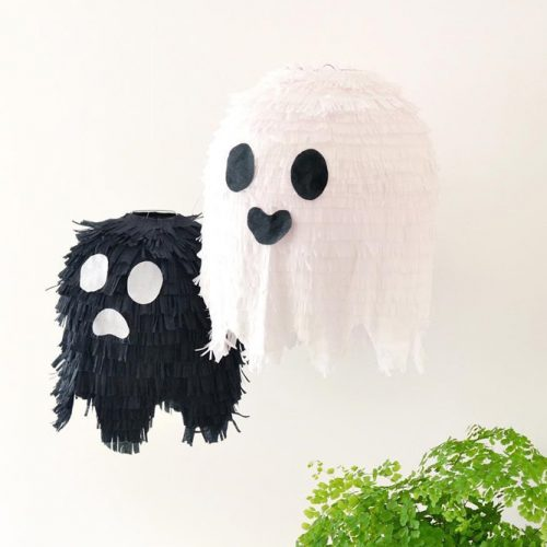 Ghost Pinatas Halloween Decor Ideas #pinatas #halloweendecor
