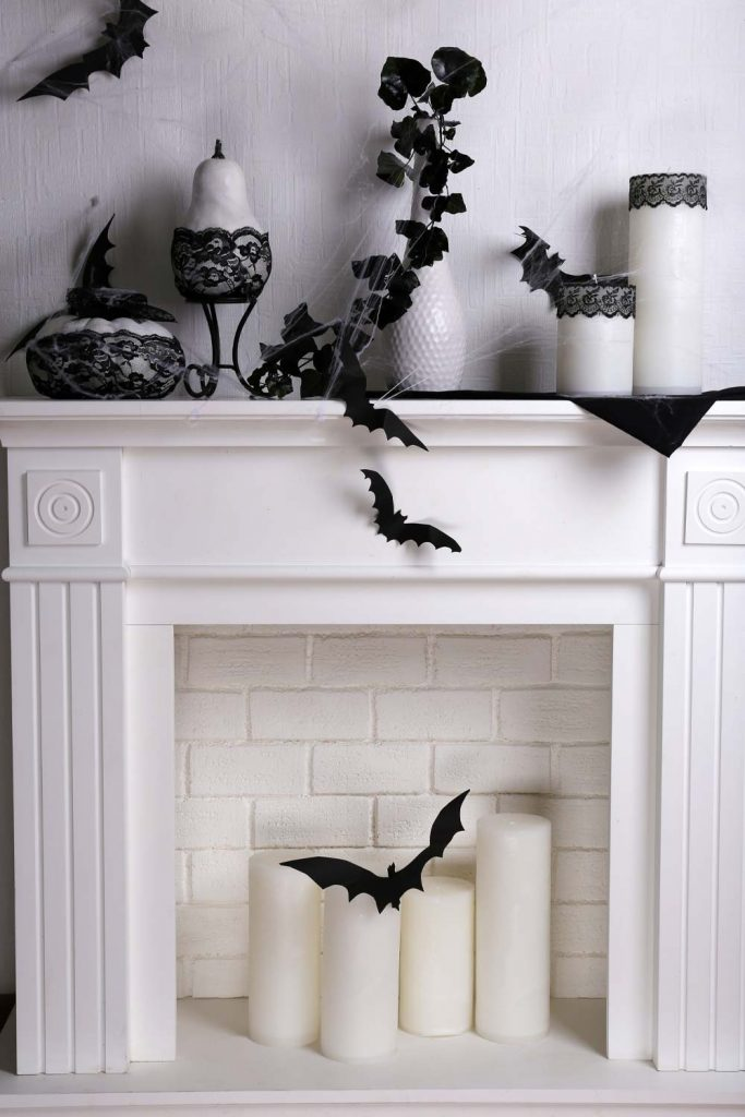 Candle Fireplace Decor