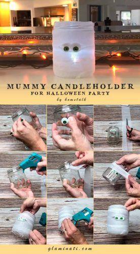 Funny Mummies Candleholder #diydecor #handmade