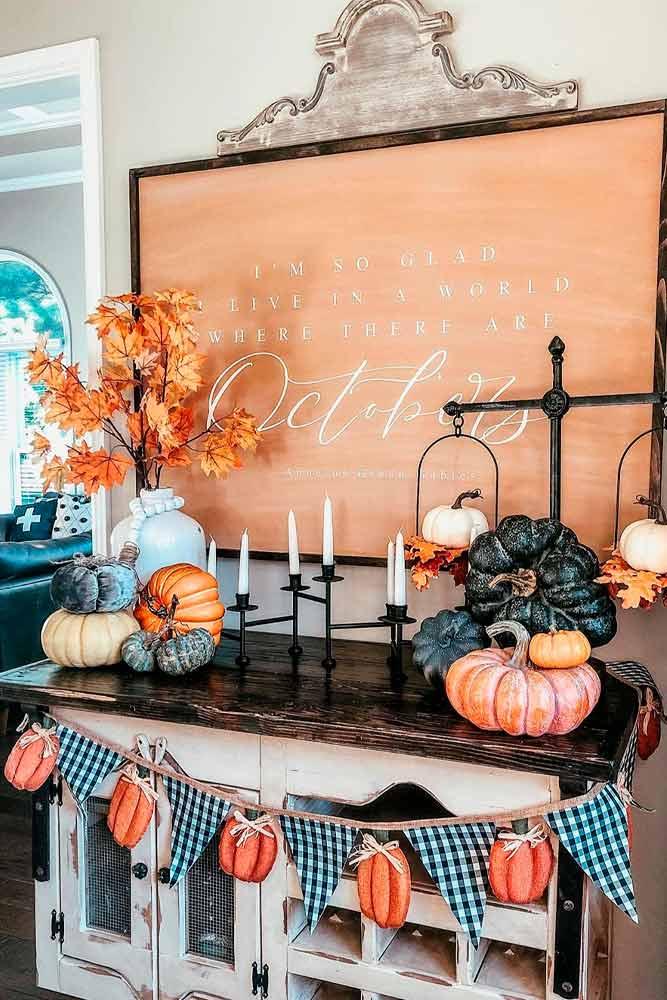 DIY Pumpkin Banner #banners #handmade